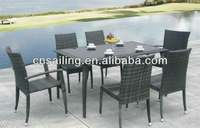 All Weather Rattan Garden Furniture Dining Set