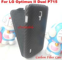 Carbon Fiber Cover PU Case Leather Case Mobile Phone Case  For LG Optimus L7 II Dual P715