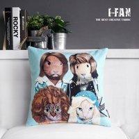 Wholsale, Creative  cute cartoon plush pillow cover for car office cushion home decoration sofa cushion pillow cover 45cm*45cm