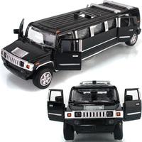 Free shipping YTGF lengthen humvees limousines car model acoustooptical child toy