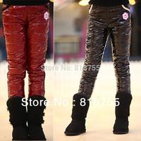 2013 winter children down pants girls BOYS kids warm sports trousers ski pants cotton long pants for girls outwear aged 4-13