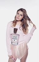 New Autumn 2014 Wildfox Sweater High Quality Perfume Bottle Pattern Knitted Pullover Sweater Length 56cm