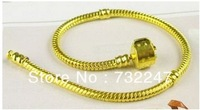 2013 new products charm bracelet diy jewellery 50pcs/lot  hot selling Golden Bracelet fit Charm Bead Women Gold Bracelet