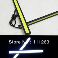 FreeShipping High Power New 12V Daylight 12W COB Car LED DRL 100% Waterproof Bumper Decorative Sticker Daytime Running Light