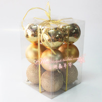 Carnival christmas set ball christmas ball light 8cm ball 12 Christmas decoration supplies