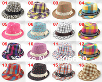 autumn spring child jazz hat, kid fedora hat & cap, tirlby hat, 10pcs/lot, free Shipping by China post