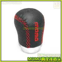 Momo shift knob alloy shift knob automobile race gear stick head refires shift knob genuine leather shift knob