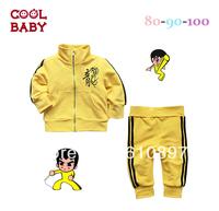 wholesale 2013New children suit,2pcs ( Coat + pants ) Bruce lee boys long sleeve leisure suit, Boy set 3set/lot,Free Shipping