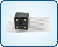 free shipping night vision waterproof  backup car rear view color ccd camera with IR 4 LED for  Kia Cerato