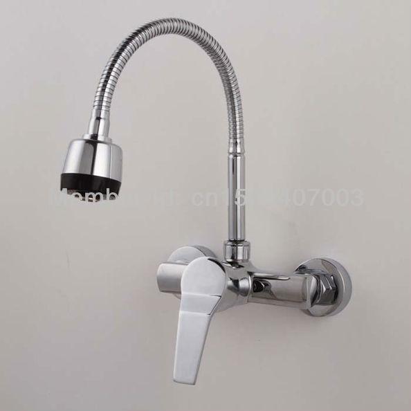 Keukenkraan Muur : Kitchen Sink Wall Mounted Mixer