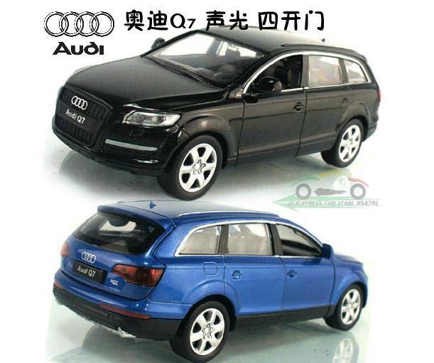 1:32 Audi Q7 3.0T Luxury SUV Acousto Optic 4 Open Door Kids Toys Car Classic Vintage Alloy Car Model Wholesale Free Shipping(China (Mainland))