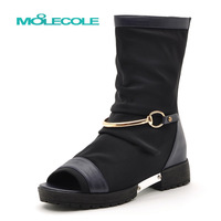 New arrival fashion cutout fashion sexy open toe knee-high elevator boots