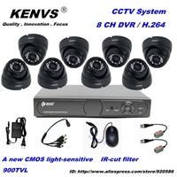CCTV System 900TVL 8 Ch  Surveillance H.264 DVR High Resolution 900TVL IR Cameras Video Sureilance Camera System