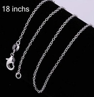 sterling Thin silver chain for pendant jewelry necklace items cuban link chains