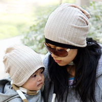 Parent-child cap twisted double faced cap women fashion cap maternity cap maternity cap warm hat baby hat