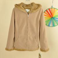 2013 women's polar fleece fabric long-sleeve with a hood sweatshirt outerwear 11g56w
