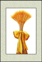 Suzhou embroidery decorative painting embroidery finished product classic series gold wheat 4060