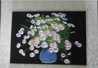 Pots of chrysanthemum suzhou embroidery suzhou embroidery machine embroidery entranceway decorative painting paintings