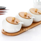 Ceramic condiment cruet, salt shaker spice boxes, spice jar seasoning(China (Mainland))