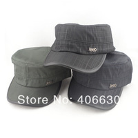 autumn spring men's flat visor cap, sun millitary hat, 2pcs/lot, free shipping by China post
