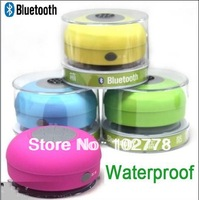 Mini Waterproof bluetooth Speaker ,Wireless shower Car Handsfree stereo Speaker for Iphone 4s 5 for ipad for samsung