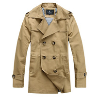 Jack trench male slim trench casual overcoat heilan outerwear medium-long double breasted