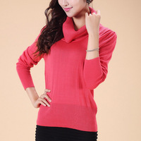 Missports 2013 heap turtleneck slim casual sweater female solid color basic shirt