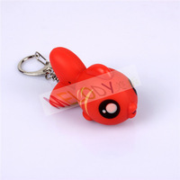 New Arrive LED Cartoon Goldfish Key Chain Carassius Auratus Toy with Voice Sounding Kingyo in Free shipping for Children