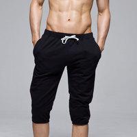 Looch knee-length pants male fashionable casual sports capris lounge pants men's push-up health pants skinny pants