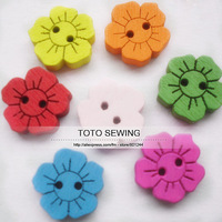 Min.order is $12 (mix order),nice colorful sunflower flatback sewing wood buttons,size 15*15mm,100pcs/lot,T2018682,free shipping