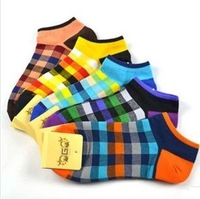 100%cotton men's socks diamond suppy to designer brand shorts socks causal free shipping high top quality boat sock