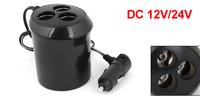 Universal Car Round Cigarette Lighter Charger Splitter HUB 3 Sockets Adapter 12/24V