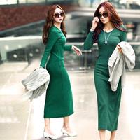 Promotion xl 2xl 3xl 4xl 5xl Plus size clothings casual winter dresses 2014 autumn maxi long dress women bandage bodycon dress