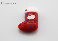 Retail real capacity 2gb 4gb 8gb 16gb 32gb cartoon Christmas socks usb flash drive pen drive memory stick Drop Free shipping