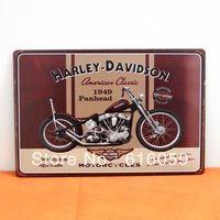 [ Do it ] American Classic 1949 Panhead Motor Tin Signs Bar Club Iron painting art decor 20*30 CM Mix Order B-80 Free shipping