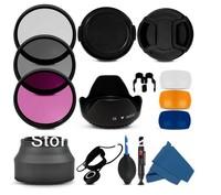 100% Professional 55MM Filter CPL+UV Set + Lens Hood + Cap + Cleaning Kit for Canon Rebel T4i T3i T3 T2i T1i XT XS XSi 18-55mm