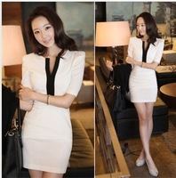 2014 new hot spring and winter fashion women clothes casual ladies Korean version of the Slim was thin sexy fall dress
