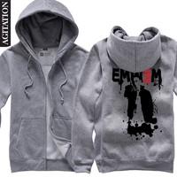 Agitation cardigan thickening sweatshirt zipper male women's eminem