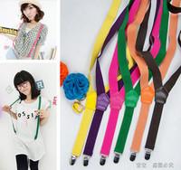 Vivi magazine all-match fashion candy color elastic suspenders spaghetti strap suspenders