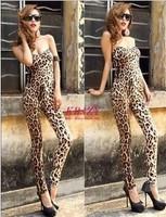 Hot European style, Sexy night club leopard leotard , Women's fashion jumpsuit,Free shipping custom-made accept