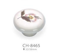10pcs 38mm ceramic drawer knobs with flower