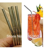 Free Shipping-(13PCS/LOT) Stainless steel drinking straw/metal drinking straws wtih Cleaning brush