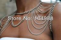 FASHION WOMEN GOLD/SILVER SHOULDER CHAIN NECKLACE JEWELRY