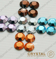 7200 pieces ( 5 colors ) 3mm 10ss ss10 Faceted Hotfix Rhinestuds Iron On Round Beads new Aluminum Metal Art Bulk DIY (u3m-Big Q)