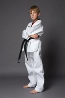 Lastfor1 st series child taekwondo clothes stripe tae kwon do