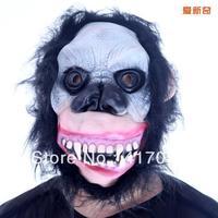 1 set Halloween costume party mask terrorist skeleton simulation latex orangutan