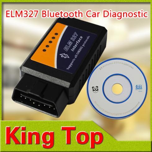 1Pcs Professional Diagnostic Tool OBD2 OBD-II ELM327 ELM 327 V1.5 Bluetooth Car Diagnostic Interface Scanner Works On Android(China (Mainland))