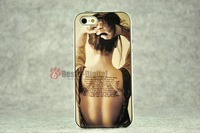 1pcs, Sexy Tattoo Back With Retail packing, PC+TPU Skin Cover Case for iphone 5/5S, Best for iphone 5 Case, New Look