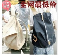 2012 women's canvas casual handbag man bag double sided bags lovers double-shoulder bags large