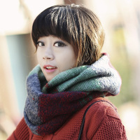2013 winter yarn scarf muffler pullover color block thermal scarf autumn and winter women's collars